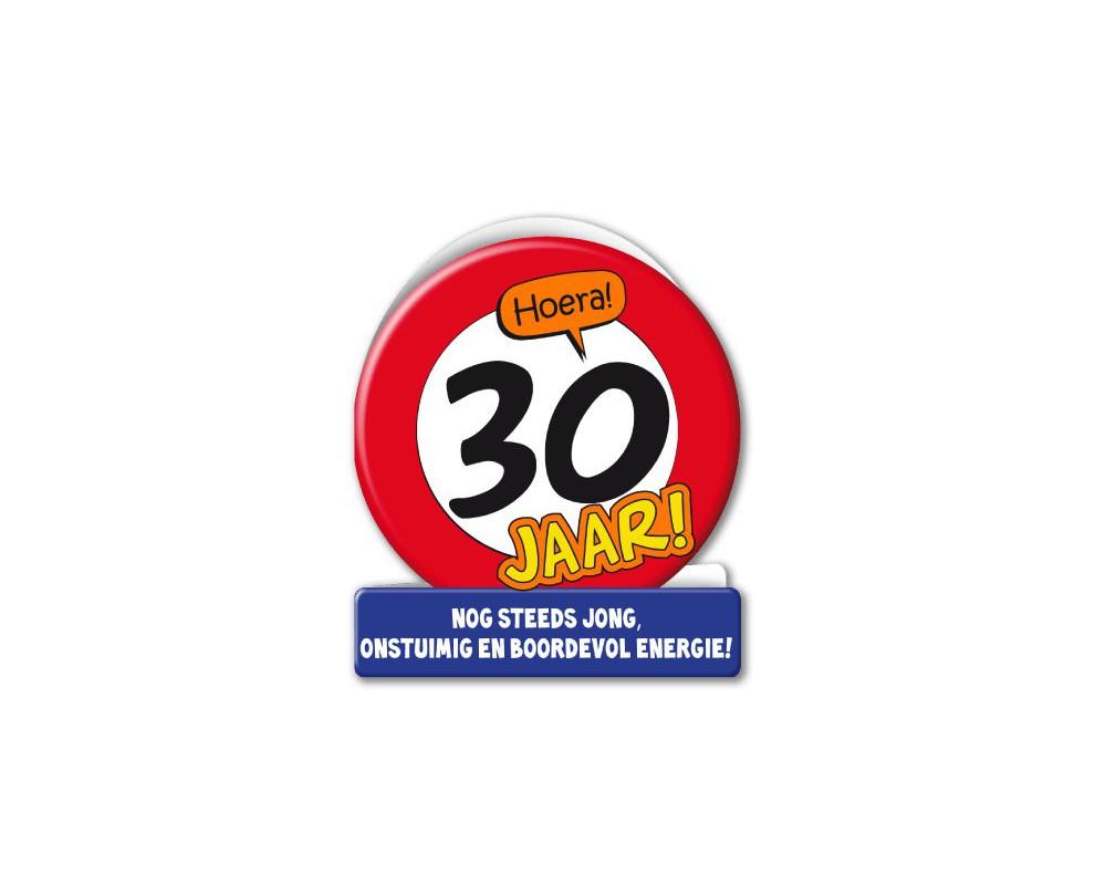 Wenskaart 30 Verkeersbord