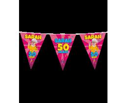 Vlaggenlijn Sarah 50 jaar cartoon