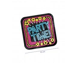 Neon Onderzetters Party Time