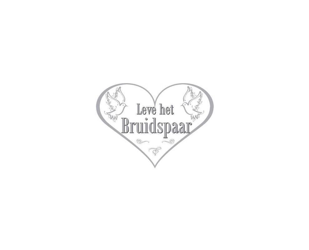 Huldeschild leve het Bruidspaar