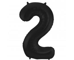 Grote Folieballon 2 zwart