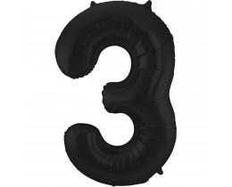 Grote Folieballon 3 zwart