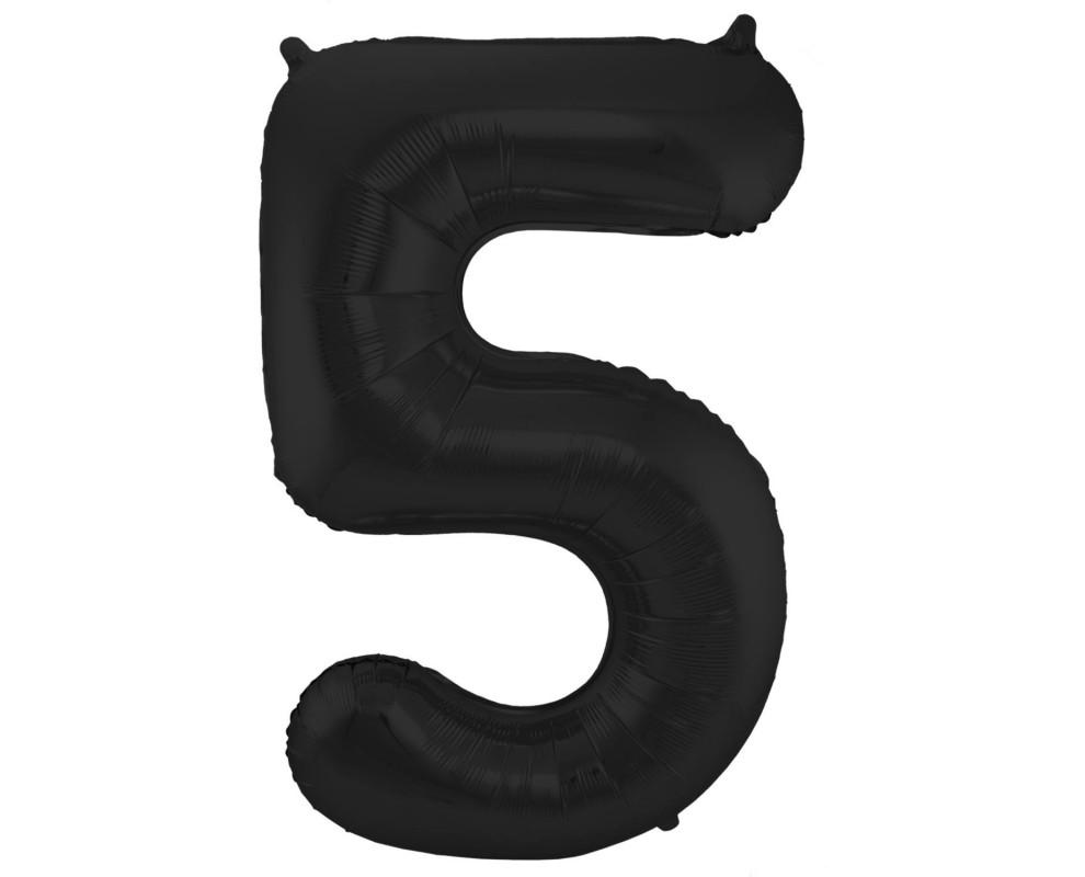Grote Folieballon 5 zwart