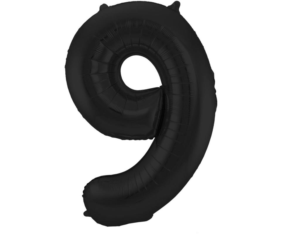 Grote Folieballon 9 zwart