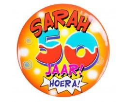 Button Sarah 50 jaar