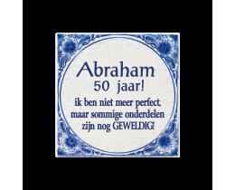 Teksttegel Abraham 50