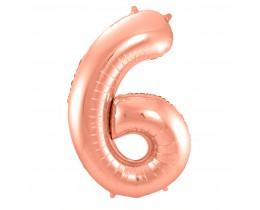 Grote Folieballon 6 rosé goud