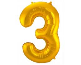Grote Folieballon 3 goud