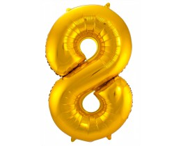 Grote Folieballon 8 goud