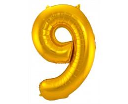 Grote Folieballon 9 goud