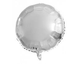 Folie ballon glans Zilver rond