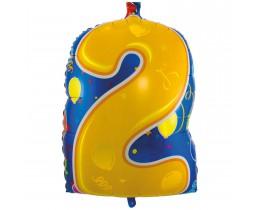Folieballon cijfer 2