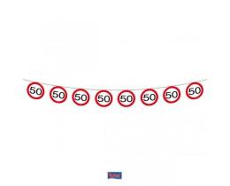 Vlaggenlijn Verkeersbord 50